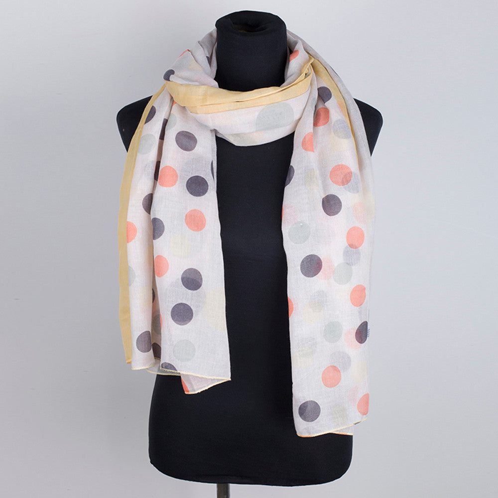 Women Point Printing Scarf Fashion Retro Female Multipurpose Shawl Scarf