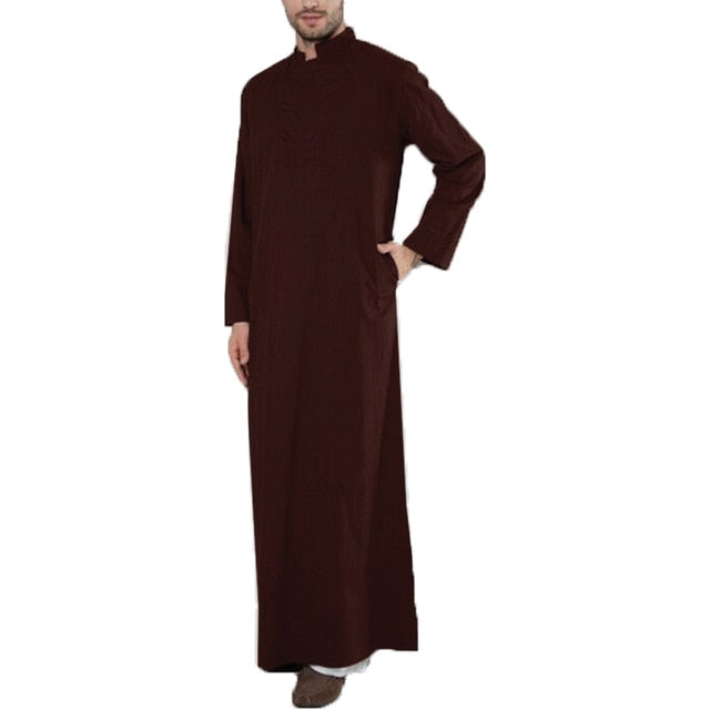 INCERUN Men Arabic Dress Full Length Thobe Available in Plus Size  5XL