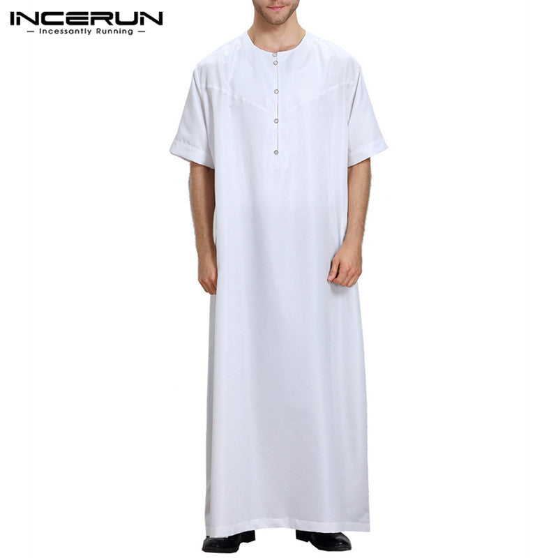 Men's Arabic night wear Dress, Half Sleeve Thobe, Kandoora free style loose fitting