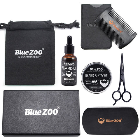 Men Beard Styling Hair Care Tool Kit 7Pcs/Set
