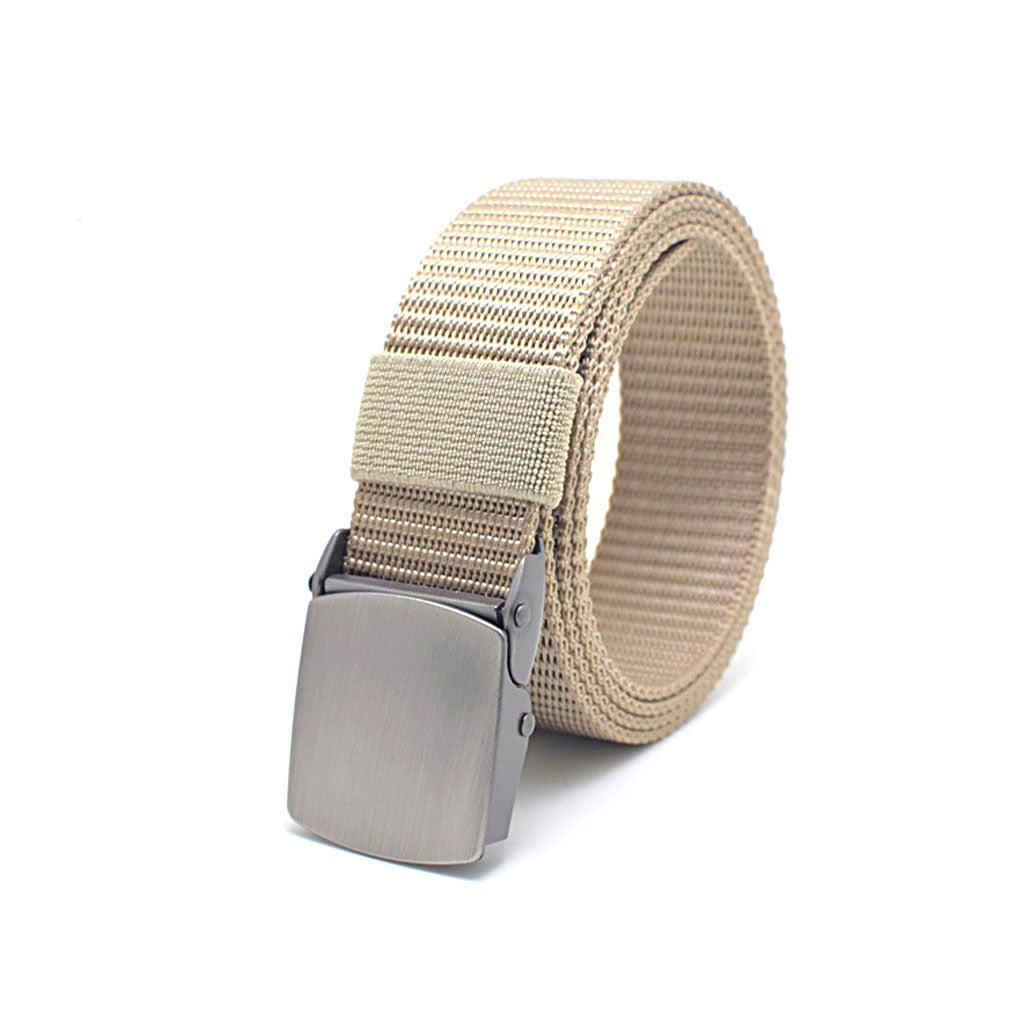 New Style Nylon Belt for Men Breathable Automatic Buckle