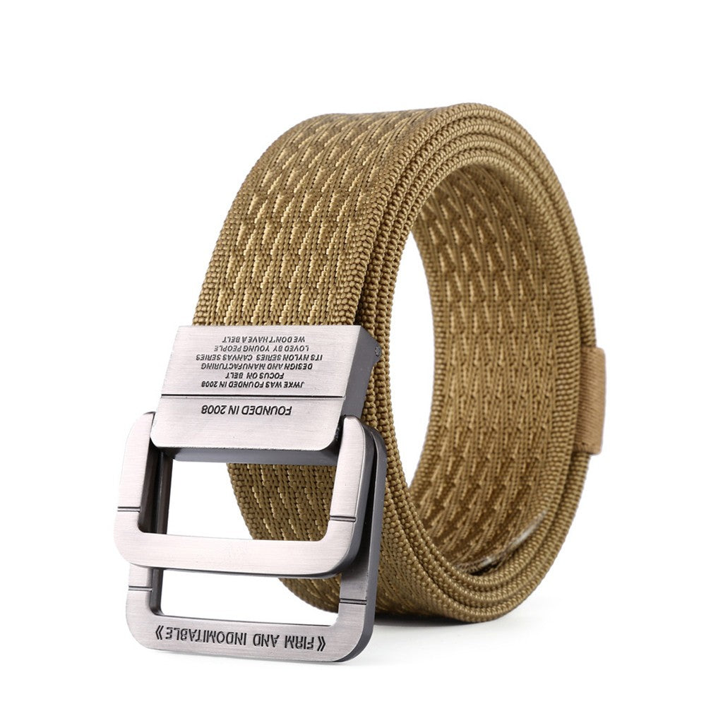 Tactical Belt New Style Nylon Belt for Men Adjustable Military Breathable Web Double Ring Buckle