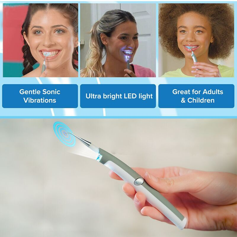 Hot Sale Electric Sonic Pic Tooth Stain Eraser Plaque Remover Dental Tool Kit Teeth Whitening Dental Cleaning System