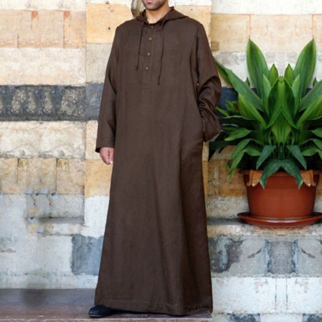 Arabic Men's Dress  Long Sleeve  Thobe Kandoora