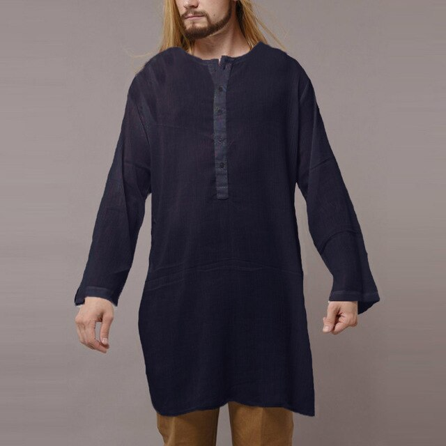 2019 Stylish Kurta Dress Long Sleeve Plain Islamic Indian ethnic fashion