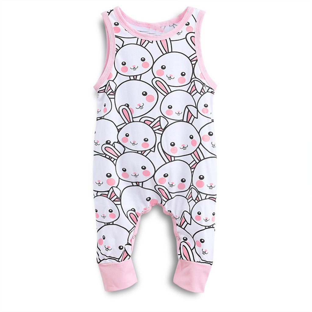Newborn Infant Baby Boy Girl Easter Cartoon Rabbit  Romper Jumpsuit Clothes
