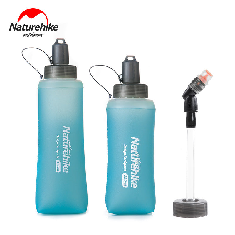 Naturehike NH17S028-B Folding Collapsible Soft Flask Water Bottle BPA Free For Runninng Jogging Hydration Bladder Pack Vest