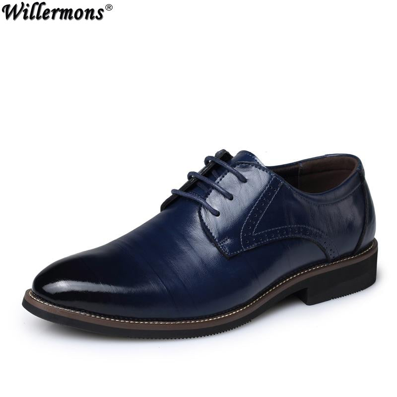 Handmade 100% Genuine Leather Men Fashion Business Oxfords Shoes