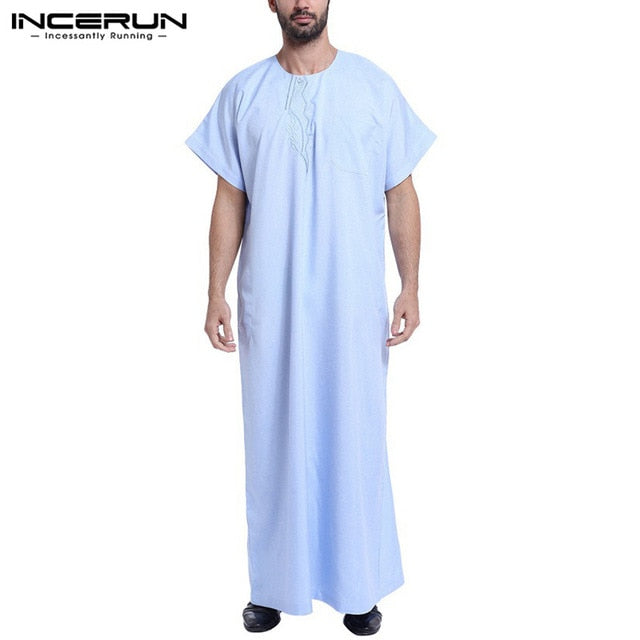 Stylish printed traditional Arabic night wear dress for Men, Thobe loose fitting free style