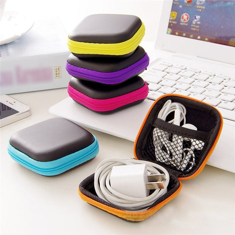 Portable EVA Headset Earphone Wire Earbud Storage Organizer Bag Case Coin Box Case for Smart Mobile Phone Earphone