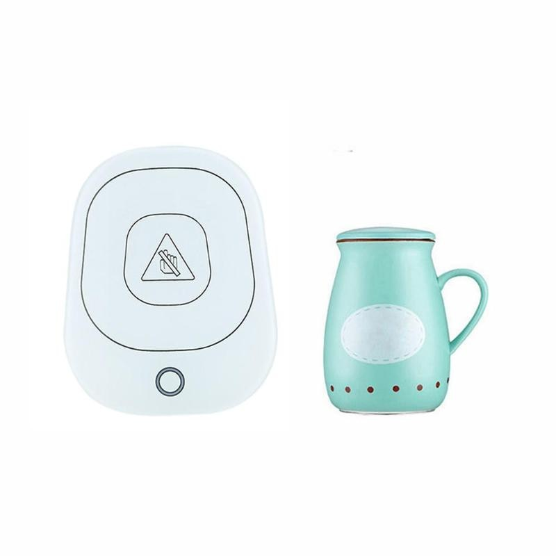 Smart Thermos cup Touch screen heating mug Waterproof Constant Temperature Vaccum flasks Heating Electric Kettle