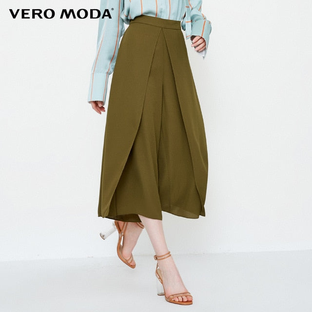 Vero Moda new decorative front piece three-quarter casual wide leg pants