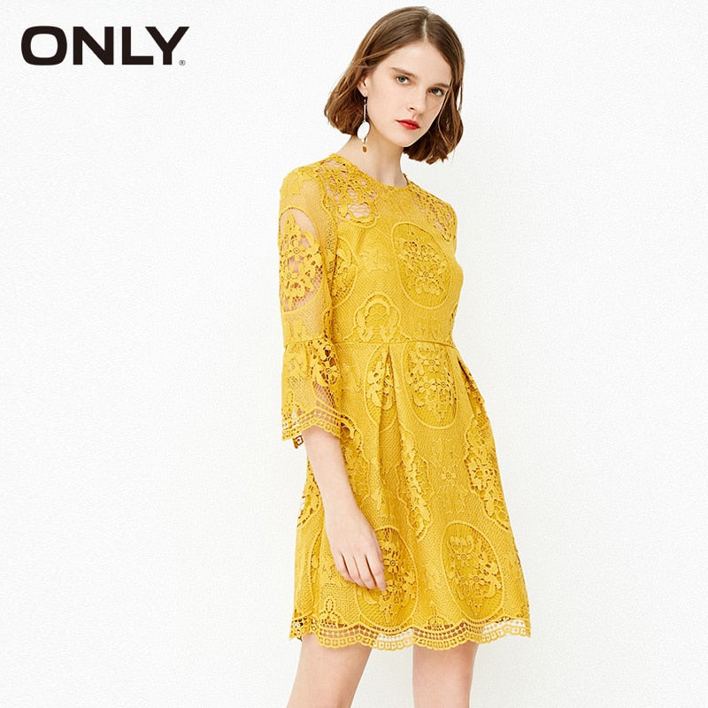 ONLY summer hollow-out knit dress