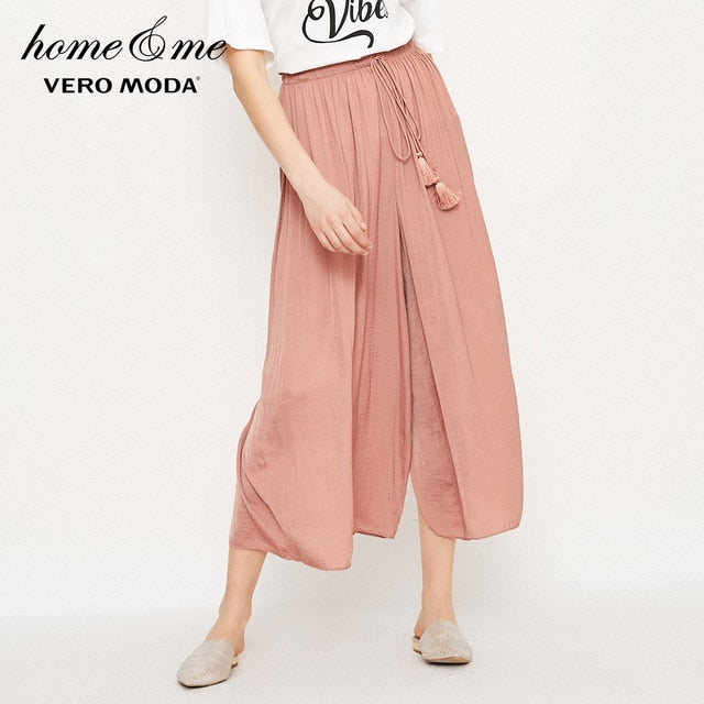 Vero Moda new waist decorative three-quarter casual pants