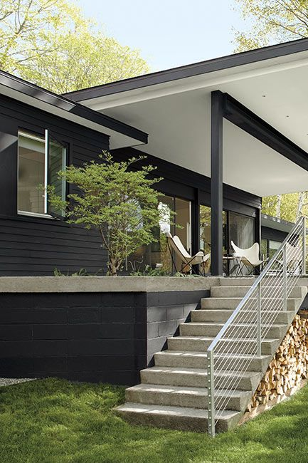 House exterior siding painted in Black Beauty Regal Select Paint color