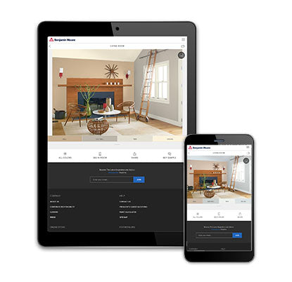 Benjamin Moore color a room tool on tablet and mobile device