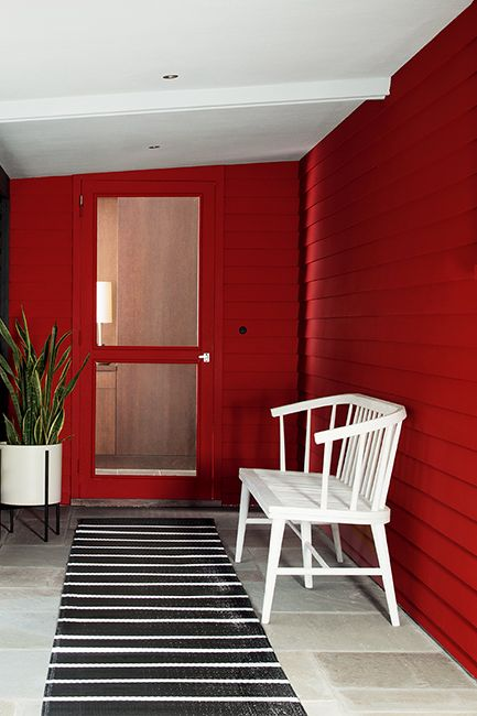 Caliente Red paint color on outside siding and door
