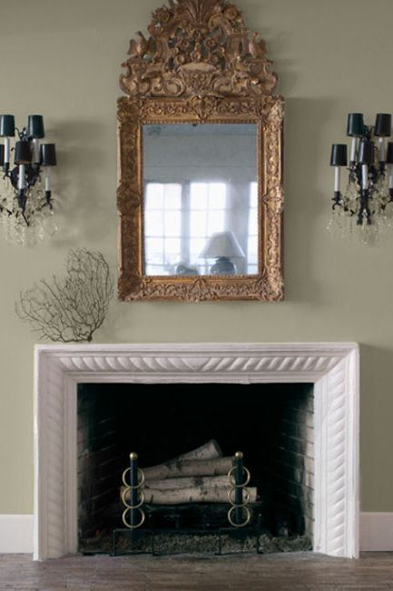 White living room with matching sconces