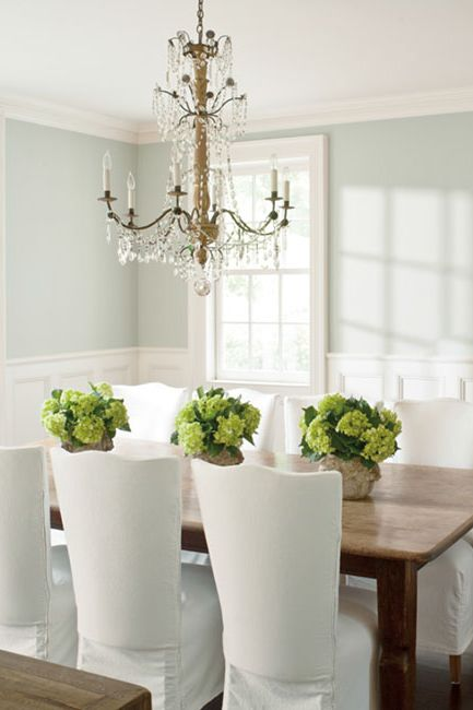 Formal, contemporary dining room