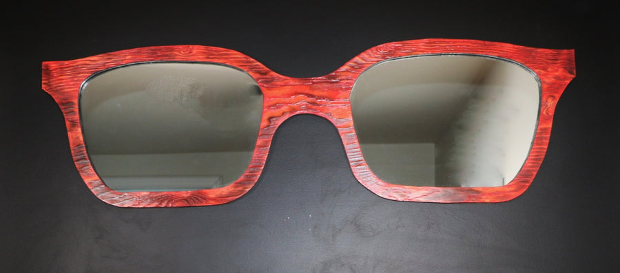 Decorative mirrored sunglasses for your wall.