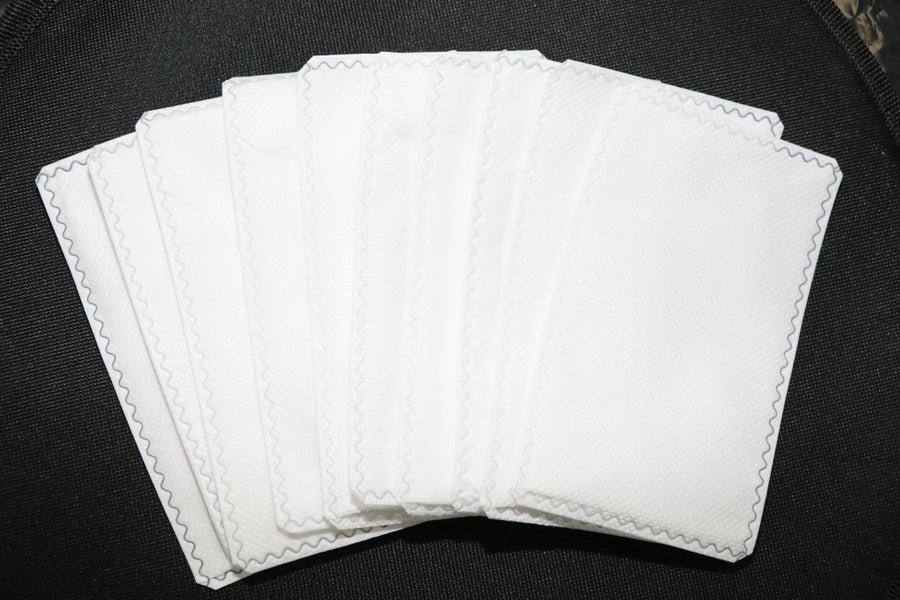 3 ply High Flow filters. Polypropylene Non woven outer layer. Middle layer melt-blown  polypropylene