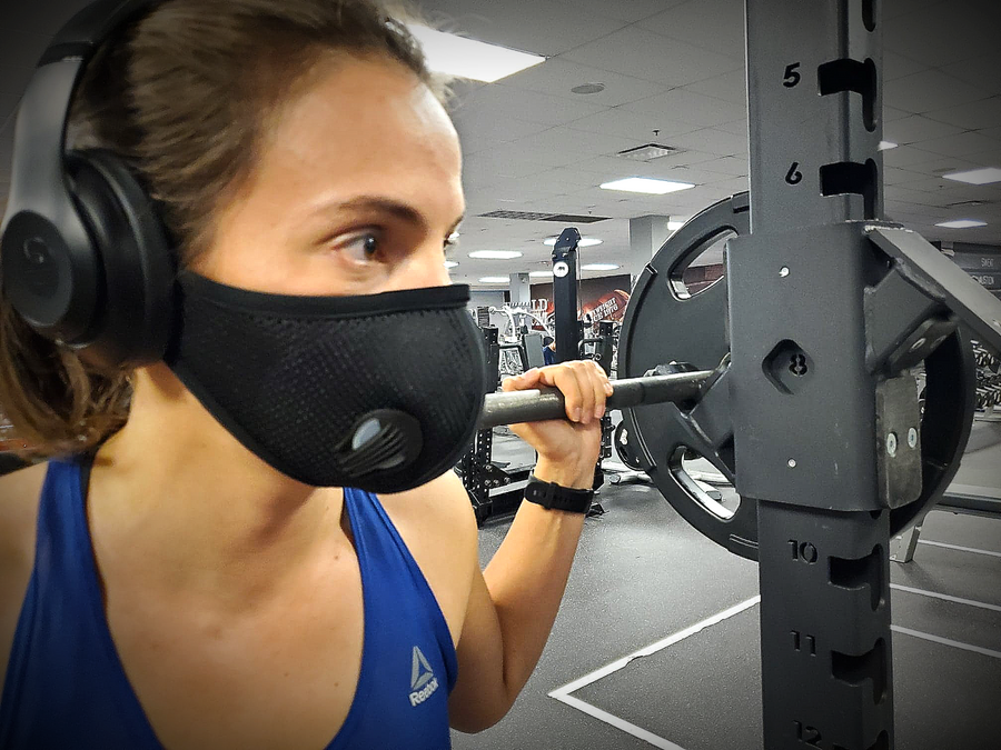 Air Pro Sport mask for working out at the gym.
