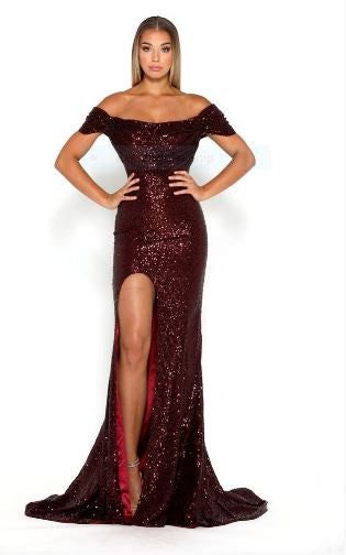Diamond Gown Burgundy