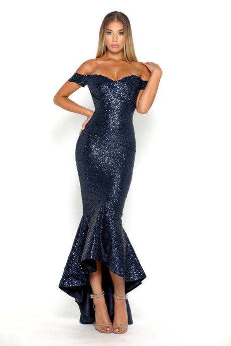 Diamond Gown I Navy