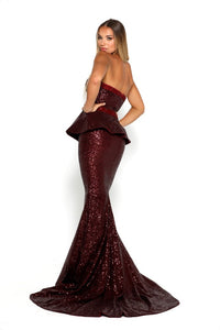 Diamond Gown II Burgundy