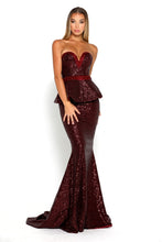 Load image into Gallery viewer, Diamond Gown II Burgundy