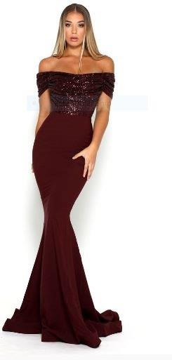 Mermaid Gown Burgundy