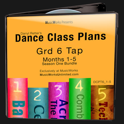 Dance Class Plans, Grade 6 Tap Bundle 1