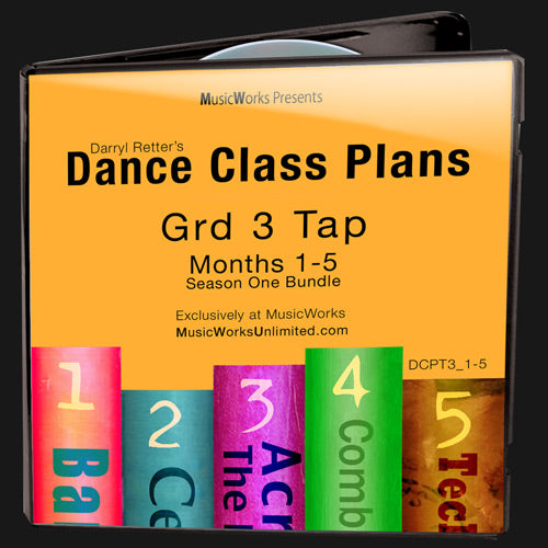 Dance Class Plans, Grade 3 Tap Bundle 1