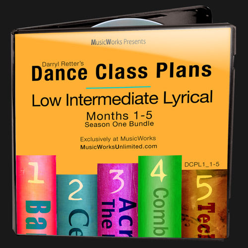 Dance Class Plans, Low Intermediate Lyrical Bundle 1