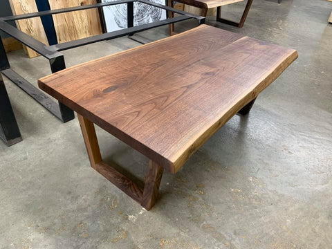 Live Edge Black Walnut Coffee Table Kansas City