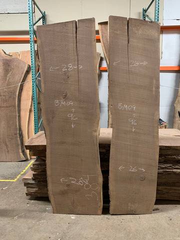 KC Slab Co | Live Edge Bookmatch Walnut Slabs