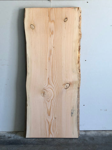 Fir Live Edge Surfaced Slab