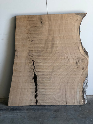 White Oak Surfaced Live Edge Slab Kansas City