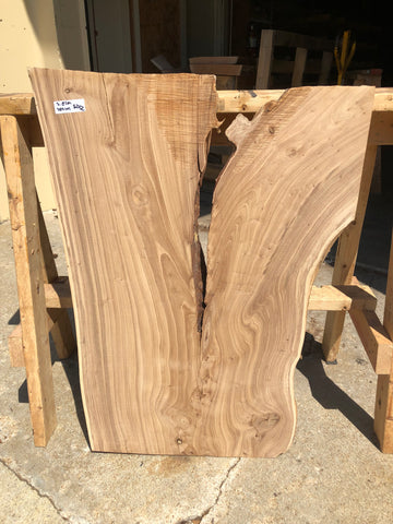 Surfaced Live Edge Siberian Elm Slab Kansas City