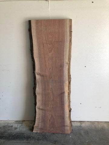 Black Walnut Surfaced Live Edge Slab Kansas City