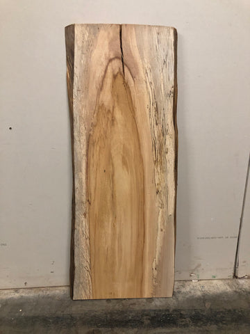 Spalted Maple Live Edge Surfaced Slab Kansas City