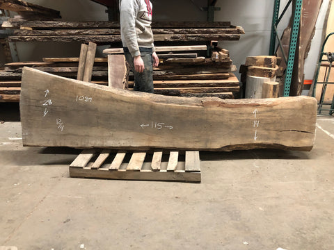 Live Edge White Oak Slab Kansas City
