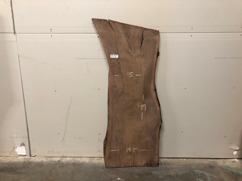 "Black Walnut (1134)  49.5"" L x 15-19.5"" W x 1.5"" T"