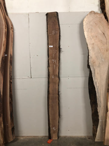 "Black Walnut (1203) 94"" L x 6-8"" W x 1.5"" T"