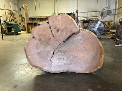 KC Slab Co | Live Edge Red Oak Cross Cut