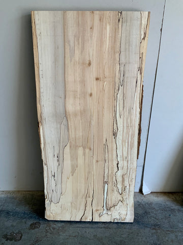 Spalted Maple Live Edge Surfaced Slab