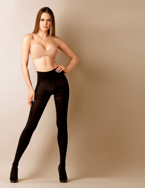 Body Shaper Pantyhose Push Up Effect opaque Tights Waist Control