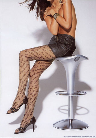 Italian Design Pantyhose Font Tattoo