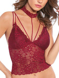 lace crop top bordeaux