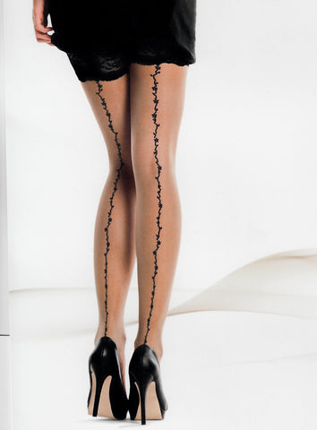 nude stockings black seam